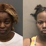 Tjhisha Monique Ball (left), 18, and Angelia Ella Mangum (right), 19,