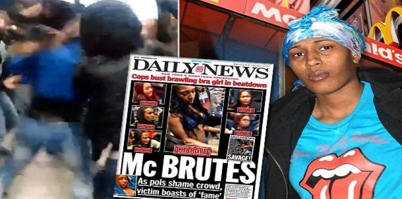 McBeastie Arrested For Beating Up 15 YO Hood Rat At Brooklyn McDonalds After Assault Video Goes Viral! (Video)