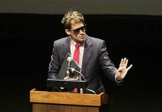 Image: Milo Yiannopoulos, the polarizing Breitbart News editor, speaks at California Polytechnic State University