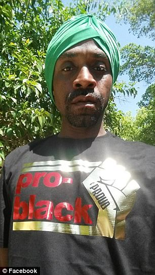 One undated photo shows Muhammad, 39, wearing a turban and pro-black t-shirt