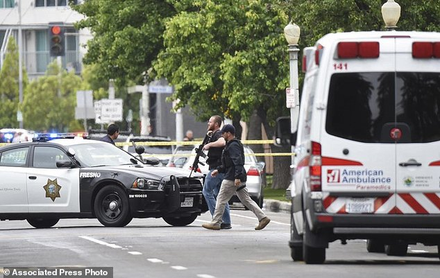 Following the shooting, Fresno city spokesman Mark Standriff said county offices were placed on lockdown, and people were urged to shelter in place